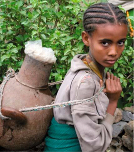 Young Ethiopian girl fetching water (Photo credit: Finnish Foreign Ministry (2009)