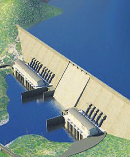 Rendition of the Grand Renaissance Dam