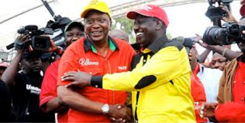 Kenyatta-Ruto: relishing electoral victory (Courtesy of  Kenyan post)