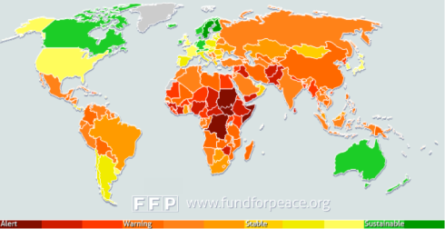 Failed states map
