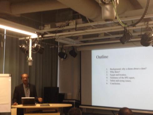 Prof. Asfaw Beyene during the presentation (Credit: Fasil Zewdu)