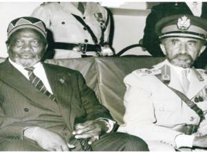 Emperor Haile Selassie and President Jomo Kenyatta (Credit: via Standard)