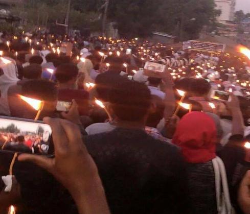 Candlelight vigil for ISIS-slain Ethiopians (Credit: mereja.com)