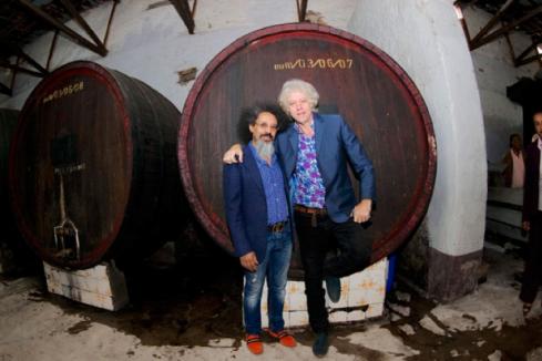 Mulugeta Tesfakiros and Sir Bob Geldof (Credit: The Reporter)