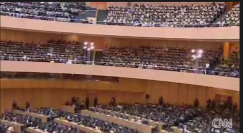 Partial view of the audience inside Mandela Hall (Credit: CNN-Amanpour)