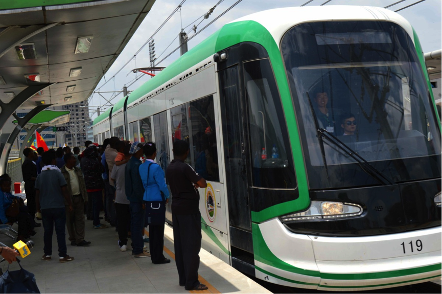 Ethiopia's light rail transit system began its maiden ...