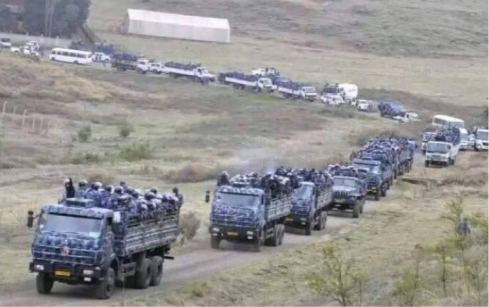 TPLF Agazi force being transporeted in every direction by air and land to kill Ethiopans