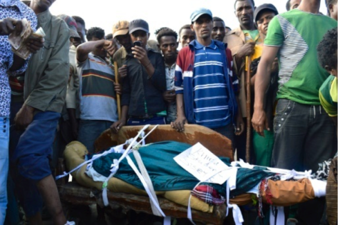 Blood and terror on the streets as protests grip Ethiopia (Credit: AFP)
