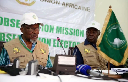 African Union Election Monitoring Group, left, its head Mr. Hifikepunye Pohamba Former President of the Republic Of Namibia