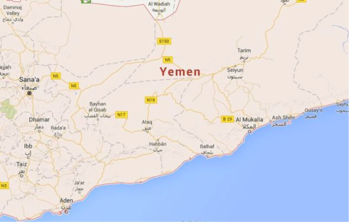 The country, Yemen. Image by: Google Maps