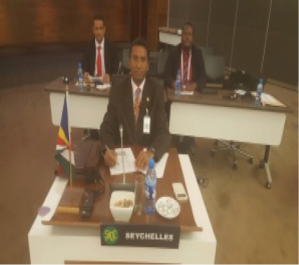 Seychelles delegation leader before SADC 17th Meeting on July 21/2015 (foto Seychelles foreign ministry and transport)
