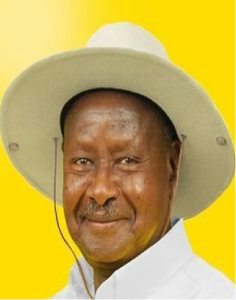 President Yoweri Museveni of Uganda. I feel sorry for my favorite Pope Francis for being taken for a ride by our crooked leaders!