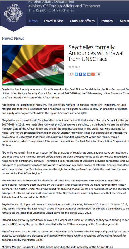 syechelles AU statement