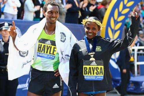 Boston Marathon 2016- Hayle & Baysa
