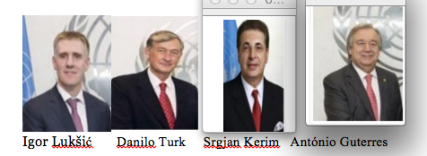 Male UNSG candidates