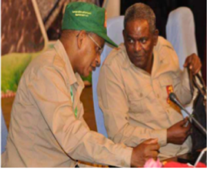 Two TPLF bosses during the Mekelle Congress (Credit:TOL)[/caption]