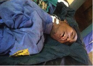 The body of an Oromo police officer killed by Agazi commandos, allegedly for crime of collaboration, when he tried to help a wounded woman (FB/JM)