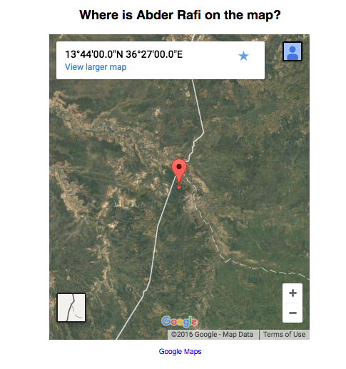 Where is Abder Rafi in Ethiopia?