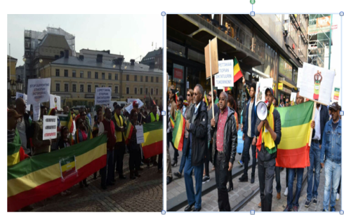 Helsinki Ethiopian protest march against the TPLF regime (Credit: Kidus Yared)