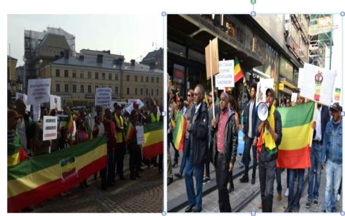 Helsinki Ethiopian protest march against the TPLF regime (Credit: Kidus Yared)