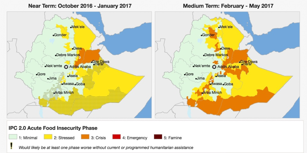 IPC3 crisis expected in parts of Oromia, SNNPR and southern
