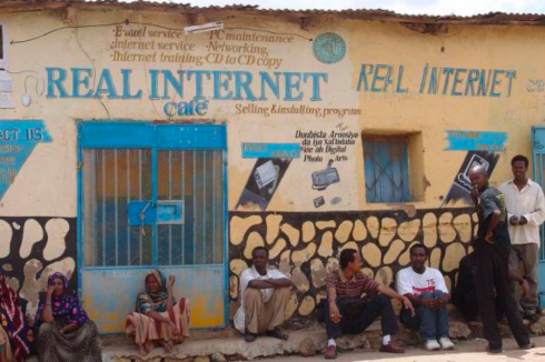 An Internet cafe in Ethiopia. [Photo by Charles Roffey]